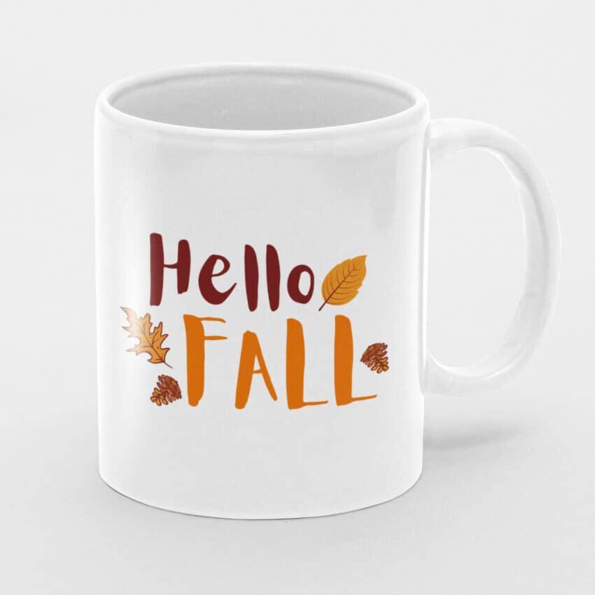 чаша hello fall чаши с надписи и илюстрации