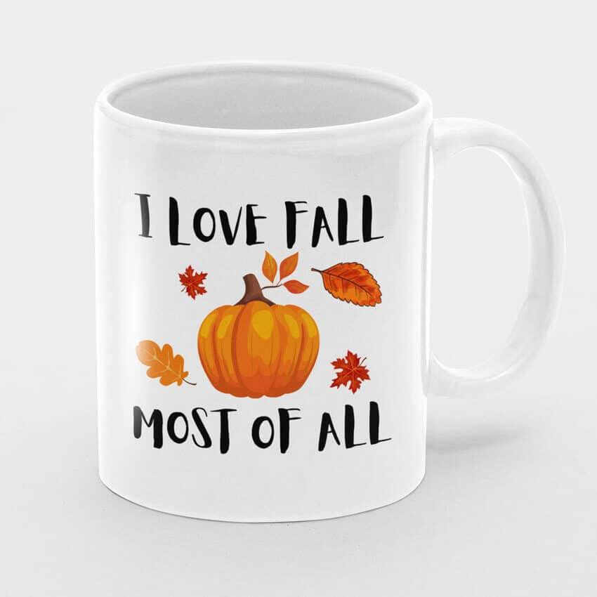 чаша i love fall чаши с надписи и картинки